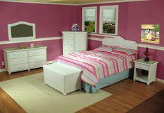 white wicker bedroom furniture set | Bedroom Wicker Furniture- Elana Classic Bedroom Set #white #wicker # ...
