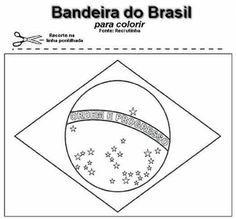 bandeira do Brasil para recortar e colorir