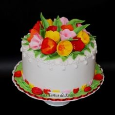 tulips cake  By kar4ita on CakeCentral.com