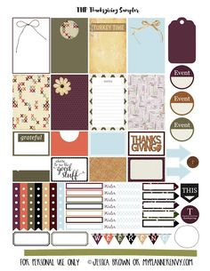 FREE Thanksgiving Planning Stickers Printable!