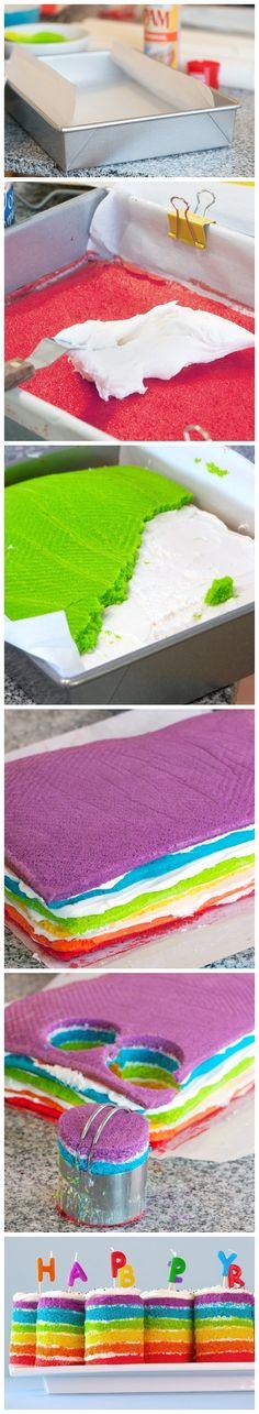 Mini Rainbow Cakes