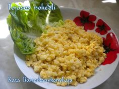 Tojásos nokedli (Gluténmentes) Fried Rice, Fries, Paleo, Food And Drink, Dishes, Healthy, Ethnic Recipes, Desk, Fitness