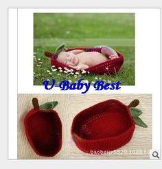 5 Sätze gehäkelten baumwolle obst warenkorb schlüsselanhänger mützen für babys neugeborenes mädchen junge kostüm gesetzt fotografie requisiten für 0-6 Monate