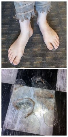 halloweencrafts:  DIY Cheap and Easy Invisible Shoe Tutorial from …And Sewing Is Half the Battle… here.You can find clear insoles at the Dollar Store, so this is a really cheap DIY.  truebluemeandyou: You could also use the insole for the base of barefoot sandlas if you wanted to. For one of the best archives of DIY barefoot sandals go here: truebluemeandyou.tumblr.com/tagged/barefoot-sandals