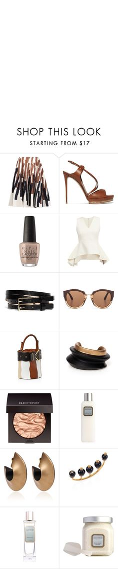 """""""Coco'nuts"""" by striggla ❤ liked on Polyvore featuring Marni, Casadei, OPI, Brooks Brothers, Sara Battaglia, Laura Mercier, Gucci, polyvoreeditorial, coconut and whitebrown"""