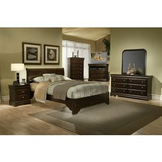 American Lifestyle 'Chesapeake' Rich Cappuccino 4-piece Bedroom Set - Overstock Shopping - Big Discounts on Bedroom Sets