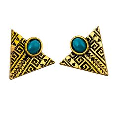 http://gemdivine.com/hot-fashion-gold-plated-white-turquoise-geometric-triangle-stud-earrings-for-women-jewelry/