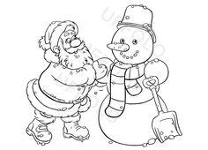 babbo-natale-e-pupazzo-di-neve