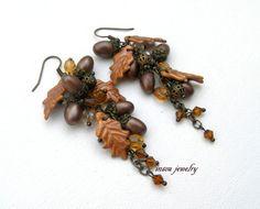 #Acorn #Earrings Fall Earrings Fall Leaves Acorn by insoujewelry