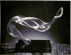 """Moholy-Nagy, László, American (b. Hungary, 1895-1946), Plexiglas Sculpture, """"Inverted Curve"""", 1946  - 19.0 x 24.3 cm."""