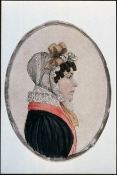 Lady with Forehead Curls and Muslin Cap attributed to Rufus Porter