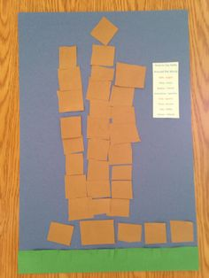 Tower of Babel Craft - Homeschool Kindergarten Craft - Sonlight Core A Bible Week 1 Tower of Babel