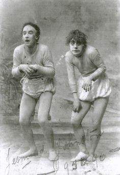 Check out this odd looking snap from the archive John 'Jesmond' Johnston and Tom Levon in Little Red Riding Hood, 1895 over a hundred years ago!!