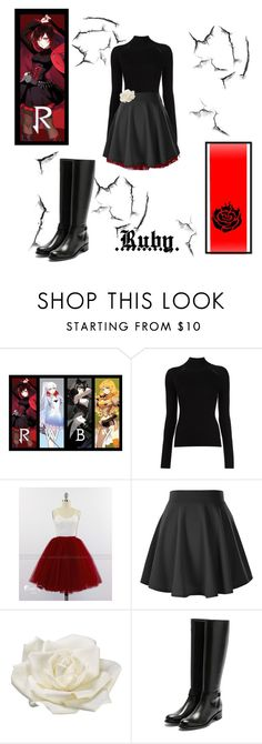 """""""Ruby inspired outfit"""" by miss-glass-rose ❤ liked on Polyvore featuring Misha Nonoo, Allstate Floral and Rupert Sanderson"""