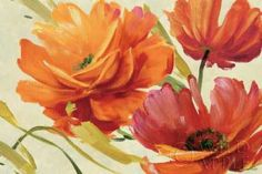Contemporary wall art of three loosely painted flowers in bloom on a neutral background. Flamboyant III Wall Art by Lisa Audit is one of the many stunning floral works of art on Great BIG Canvas. Discover more floral paintings at Great BIG Canvas. Big Canvas Art, Canvas Artwork, Canvas Art Prints, Painting Prints, Framed Prints, Floral Paintings, Canvas Paintings, Canvas Size, Art Floral