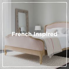 Ooh la la! Weathered oak French beds, fresh linens and wild flowers come together in this continental number.