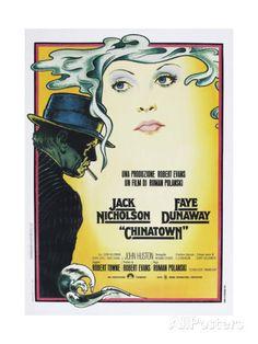 CHINATOWN, Italian poster, from left: Jack Nicholson, Faye Dunaway, 1974 Art Print