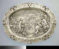 Paulus Willemsz. van Vianen | Diana e Atteone (Schaal met voorstellingen uit de geschiedenis van Diana en Actaeon), 1613