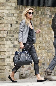 dressed down leather pants