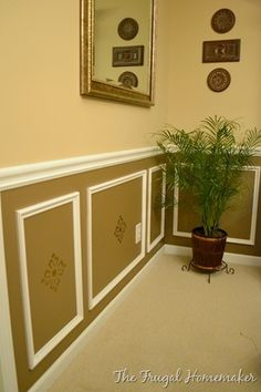 Picture Frame Wainscoting In The Dining Room