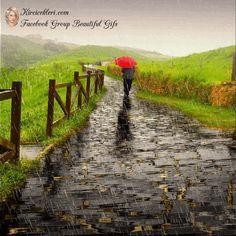 Gifs, Rainy Morning Quotes, Hug Gif, I Love Rain, Gif Photo, Glitter Graphics, Animation, Railroad Tracks, Romance