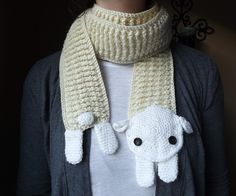 Ravelry: Sheep Scarf free crochet pattern by Michelle M. Taylor