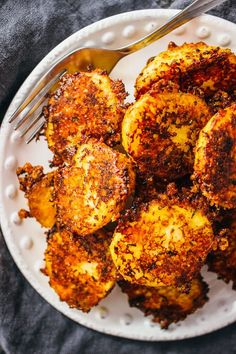 Extra crispy parmesan crusted potatoes
