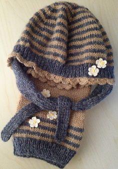 Bonnet modèle Bouton d'Or 2013 et écharpe coordonnée, réalisation perso. Fleurs crochet accessoires La Droguerie.