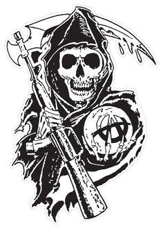 Sons Of Anarchy Reaper Crew T-Shirt tattoo tatuagem - tattoed models - tattoo feminina - tattoo - ta Simbolos Tattoo, Tattoo Motive, Dog Tattoos, Tattoo Fonts, Finger Tattoos, Skull Tattoos, Black Tattoos, Sons Of Anarchy Tattoos, Sons Of Anarchy Reaper