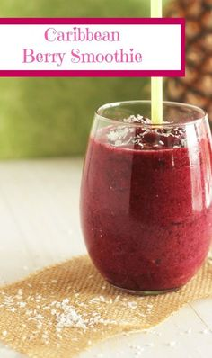 Caribbean Berry Smoothie - Carmel Moments - Made with coconut milk or cream. Amazing!