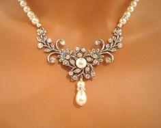 Zafiro azul collar de la collar collar de la boda por treasures570