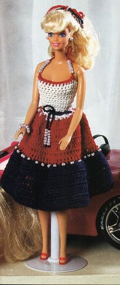 Barbie Crochet Pattern PDF Barbie dress fashion doll outfit teenage doll clothes thread crochet cotton Instant Download