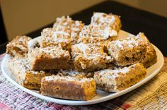 What's better than cheese cake and pumpkin? Pumpkin streusel cheesecake bars of course! You'll love these delicious cheesecake bars with crunchy crust!