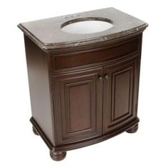 $249 Would Need Paint Gallery 24 In. W X 21 In. D X 33.5 In. H Vanity  Cabinet Only In Java GJVM24DY At The Home Depot | Bathroom Ideas |  Pinterest | 229, ...
