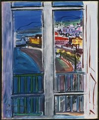 Raoul Dufy  Window on the Promenade des Anglais, Nice, 1938.  Philadelphia Museum of Art - Collections .............#GT
