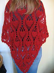 A lovely lacey pattern like the pineapple stitch but with hearts instead: pattern for prchase