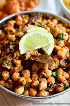 Channa Masala...SUPER spicy!! I think next time I will leave out the green chilies.