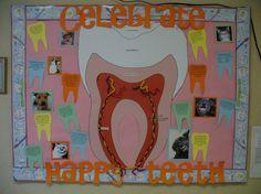 health bulletin board, healthy teeth bulletin board