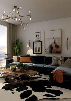 Apartment Interior Design, Living Room Interior, Home Living Room, Living Room Decor, Bedroom Decor, Living Room Goals, Aesthetic Room Decor, Dream Home Design, Home And Deco