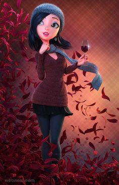 30 Beautiful 3D Girls Character designs and Models | Read full article: http://webneel.com/3d-girl | more http://webneel.com/daily | Follow us www.pinterest.com/webneel