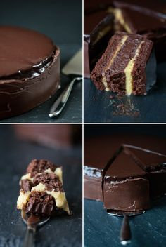 Passion Fruit Truffle Cake has 1 1/2 pounds of chocolate in it. Dream cake!