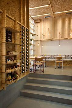 IT Café By Divercity Architects #osb #wood