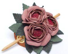 Boho collana in pelle con fiori e nappe pelle di MyFunnySquirrel