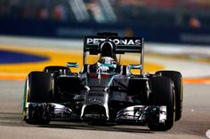 On Track w/Lewis Hamilton for another 2014 #F1 Pole at the Signapore Grand Prix