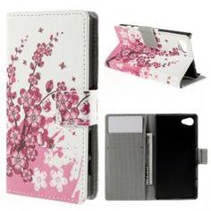 Sony Xperia Z5 Compact vaaleanpunainen kukka puhelinlompakko. Sony Xperia, Compact