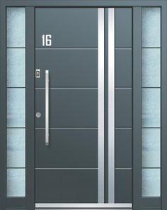 Ulazna vrata AGE 1062 - Ulazna vrata Inotherm Home Door Design, House Gate Design, Door Gate Design, Door Design Interior, Wooden Door Design, Wooden Doors, Modern Entrance Door, Modern Door, Slider Door