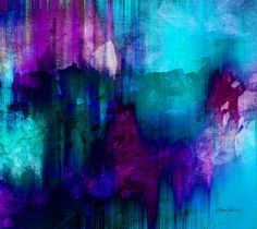 abstract+paintings | Abstract Art Painting by Ann Powell - Blue Rain Abstract Art Fine Art ...