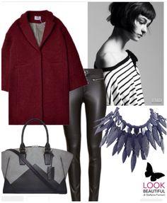 Grey shades with burgundy