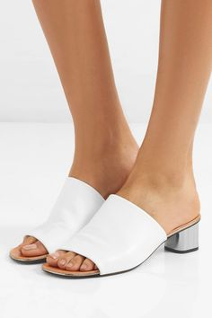 Robert Clergerie - Lato Leather Mules - White - IT