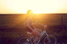 Bike rides + sunsets + summer = ahh.